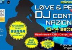 Ripalimosani. Love & Peace Dj Contest nazionale: la conferenza stama di presentazione venerdì 6 settembre 2019.