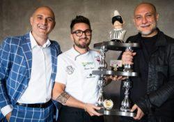 CALVI RISORTA. Consegna Trofeo Pulcinella al pizzaiolo Giacomo Garau che ha ricevuto il prestigioso premio dalle mani di due icone del Mondo Pizza: Francesco Martucci e Attilio Albachiara.