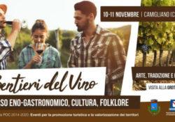 """CAMIGLIANO, """"Sentieri del vino"""", percorso eno-gastronomico, culturale e folklore: il prossimo 10 e 11 novembre."""