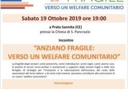 """PRATA SANNITA. """"Anziano fragile, verso un welfare comunitario"""": incontro con esperti del settore il prossimo sabato 19 ottobre."""