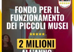 Venafro / Roma. 2 milioni di euro all'anno per i piccoli Musei: al Senato approvata la proposta emendativa della Testamento (M5S).