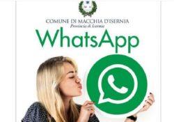 Macchia d'Isernia. Il Comune sbraca su whatsapp: direttamente sul cellulare tutti gli aggiornamenti sulle news di pubblica utilità.