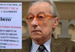 """Caserta / Provincia. Vittorio Feltri non è più giornalista, dopo 50 di carriera si è dimesso dall'Ordine. Ricordate l'ultima """"sfuriata"""" contro i meridionali? VIDEO."""