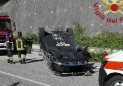 Colli a Volturno / Cerro al Volturno. Auto si ribalta lungo la S.S. 158, in corso accertamenti: illeso il conducente.