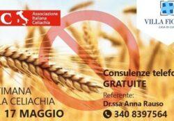 Capua. Settimana della Celiachia, la Casa di Cura Villa Fiorita aderisce alla Campagna Nazionale dell'Associazione Italiana Celiachia.
