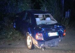 Telese Terme / Maddaloni. Grave incidente stradale nella notte: centauro si scontra con un'auto.