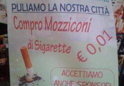 """Caserta / Provincia. """"No mozziconi"""": Striscia la Notizia riprende l'iniziativa del 2014 di Antonio Quadrano."""