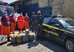 Capua. La Guardia di Finanza dona 230 litri di carburante alla Protezione Civile oggetto di sequestro.