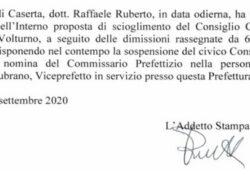 CAPRIATI AL VOLTURNO. Comune commissariato, arriva il viceprefetto Vincenzo Lubrano: aveva già seguito altri enti del matesino.