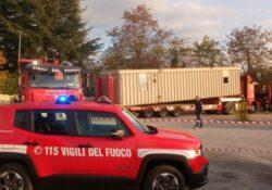 Sant'Agapito / Isernia. Modulo abitativo della Protezione Civile spostato all'Ospedale di Isernia a cura dei VVF.