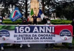 """PIEDIMONTE MATESE. """"Le radici della memoria"""": una delegazione di Fratelli d'Italia e Gioventù Nazionale celebra i 160 anni dell'Unità d'Italia."""