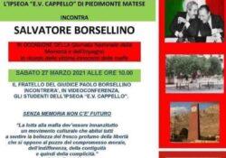 PIEDIMONTE MATESE. Salvatore Borsellino, fratello del magistrato ucciso dalla mafia, incontra alunni e docenti dell'Istituto Alberghiero matesino.