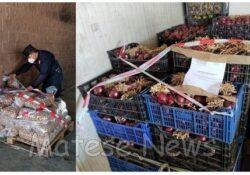 Caserta / Provincia. I Carabinieri forestali sequestrano svariati quantitativi di prodotti alimentari irregolari al mercato ortofrutticolo.