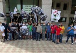 Caserta / Provincia. Le Associazioni della filiera bufalina protestano sotto il Consiglio Regionale: ricevute negli uffici.