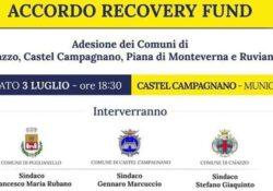 CAIAZZO / CASTEL CAMPAGNANO. Recovey Found, adesione di 4 Comuni della Provincia di Caserta: domani la presentazione dell'accordo di programma.