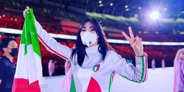 L'apertura dei giochi olimpici, ecco l'atleta Carini alla sfilata: ed ora tutti a tifare Angela