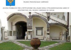 """Capua. Museo Provinciale Campano: pubblicato bando per la formazione Albo ets/associazioni """"Amici e Sostenitori""""."""