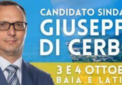 """BAIA E LATINA / Amministrative 2021. """"Determinati a non voler far mai rallentare il treno del progresso"""": Giuseppe Di Cerbo intenzionato a mantenere la fascia tricolore."""