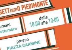 """PIEDIMONTE MATESE / Amministrative 2021. La lista n. 2 """"Progetto Piedimonte"""" del candidato sindaco Leuci stamane in Piazza Carmine."""