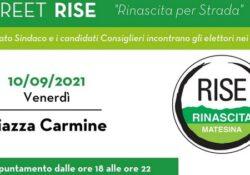 """PIEDIMONTE MATESE / Amministrative 2021. E stasera parte la campagna elettorale della lista n. 1 """"RISE"""" di Civitillo: il candidato sindaco Vittorio attenderà gli elettori in Piazza Carmine."""