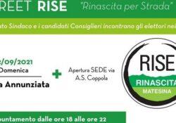 """PIEDIMONTE MATESE / Amministrative 2021. Doppio appuntamento quest'oggi per la lista n. 1 """"RISE"""" del candidato sindaco Civitillo: si aprono due sedi."""
