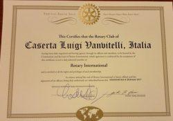 """Caserta. Festa grande in casa Rotary, nasce il secondo Club """"Luigi Vanvitelli"""": giovedì 9 marzo la consegna della Carta."""