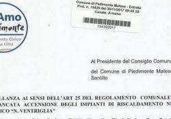 """PIEDIMONTE MATESE. Mancata accensione degli impianti di riscaldamento: l'interpellanza del gruppo """"SiAmo Piedimonte"""" dei consiglieri Grillo, Riccitelli e Petella."""