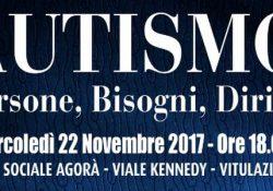 VITULAZIO. Autismo: persone, bisogni, diritti: il convegno, mercoledì 22 novembre presso il Centro Sociale Agorà.