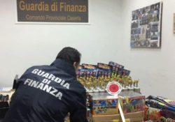 Caserta / S. Maria a Vico / Cervino. 65mila giochi pirici pari a 10 quintali sequestrati dalla Finanza a poche ore dal nuovo anno.