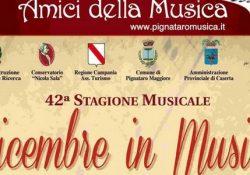 """PIGNATARO MAGGIORE. """"Dicembre in Musica 2017"""" a cura degli """"Amici della Musica"""": esibizioni il 9, 20 e 28 dicembre prossimi."""