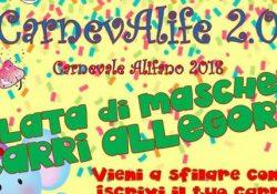 ALIFE. Ecco il Carnevale alifano 2.0 a cura della locale Associazione Pro Loco: sfilata di maschere e carri allegorici.