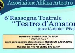 """ALIFE. Riparte la Rassegna teatrale Teatro d'amatore: domenica 4 febbraio all'Istituto """"Bosco"""" serata di gala che segnerà l'inizio ufficiale dell'evento."""
