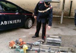 Isernia / Provincia. Furti nelle abitazioni, scovati a casa di un 50enne attrezzi agricoli rubati tempo fa ad una persona: i carabinieri lo denunciano per ricettazione.