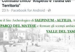 Sepino / Morcone. Valorizzare il Sito Archeologico, avviare il Parco del Matese e fermare gli scempi ambientali nella Valle del Tammaro: la conferenza a cura del Comitato Civico.