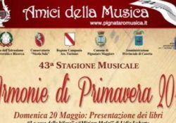 """PIGNATARO MAGGIORE. Gli """"Amici della Musica"""" dedicano una serata alla figura del professor Martone: venerdì 8 giugno """"Armonie di primavera 2018""""."""
