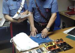 Castel San Vincenzo. 35enne della Provincia di Napoli sorpreso dai Carabinieri con merce contraffatta: immediata denuncia e sequestro del materiale rinvenuto.