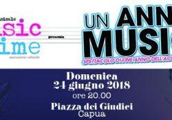 Capua. Un anno di musica: torna lo spettacolo di Music Time nell'incantevole piazza dei Giudici.