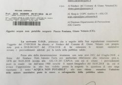 GIANO VETUSTO. Scoppia la questione della potabilità dell'acqua di sorgente: l'attacco di Mario Carusone.