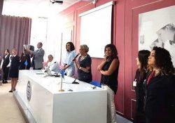 PIEDIMONTE MATESE. Istituto Alberghiero, la preside Clotilde Riccitelli accoglie i nuovi allievi per l'anno scolastico che va ad iniziare.