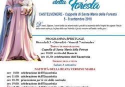 Castelvenere. Tutto pronto per i Festeggiamenti in onore della Madonna della Foresta: dal prossimo sabato 8 settembre.