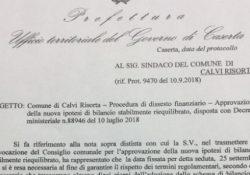 """CALVI RISORTA. Bilancio, il gruppo """"Uniti per la Rinascita Calena: """"La seduta del Consiglio è legittimata dalla Prefettura"""""""