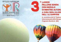 Fragneto Monforte. Il 3^ lancio del pallone sonda a 30mila metri di altitudine con modulo di rientro automatico a cura degli alunni dell'Istituto Rampone.
