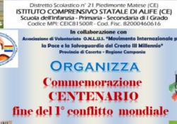 ALIFE. Commemorazione centenario 1° conflitto mondiale e Giornata dell'Albero e dei diritti dell'infanzia
