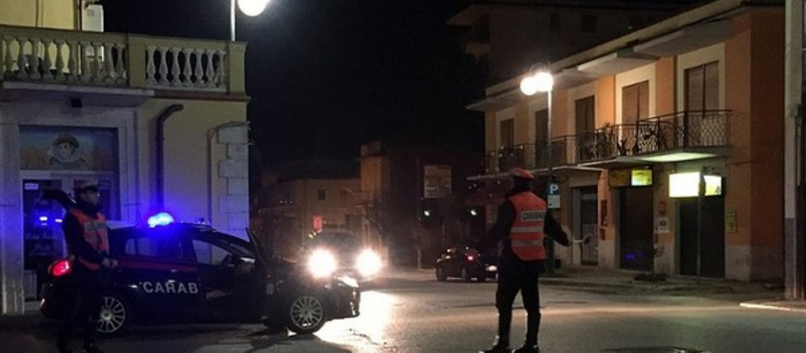 Venafro / Isernia. Proseguono senza sosta i controlli dei Carabinieri finalizzati al rispetto delle disposizioni anti covid.