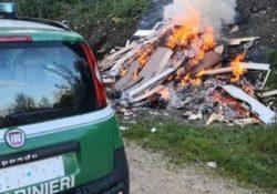 Caserta / Provincia. Mercato agroalimentare: carabinieri forestali del Nucleo Nipaaf e Polizia Municipale denunciano persona per combustione illecita di rifiuti.