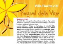 Capua. IX Festival della Vita: domani Villa Fiorita protagonista all'Istituto Superiore di Scienze Religiose.