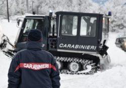 Isernia / Provincia. Allerta neve: i Carabinieri pronti a intervenire con mezzi antineve.