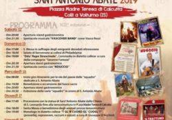 Colli a Volturno. Tutto pronto per l'edizione 2019 della Tradizionale festa di Sant'Antonio Abate: eventi da sabato 12 a domenica 20 gennaio.