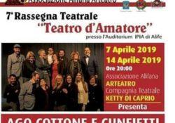 """ALIFE. """"Matrimonio su misura"""" per l'ultimo appuntamento della 7° Rassegna """"Teatro d'Amatore"""" di Arteatro: domenica 7 aprile."""