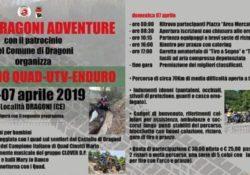 DRAGONI. Raduno Quad-Atv Enduro, sabato e domenica in città il campione italiano Mario Cinotti: percorso di 70 km nelle montagne del Monte Maggiore tra natura e divertimento.